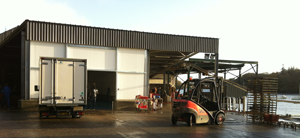 refrigerated warehouse and trailers