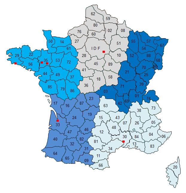 Carte des secteurs Commerciaux - Ijinus