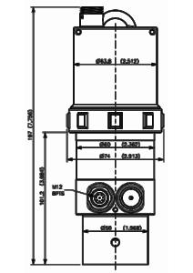 Dimensions du capteur de niveau LNU06V3
