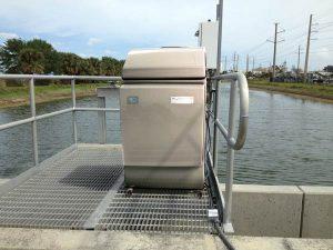 Échantillonneur d'eau ISCO Platinum installé