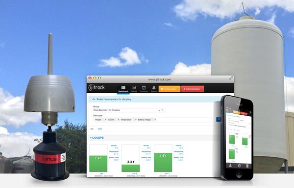 Wireless sensor for silo