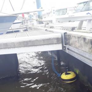 Bouée turbidité avec 3G pour la surveillance de travaux portuaire