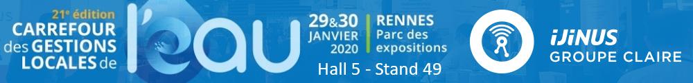 Ijinus vous accueille hall 5 stand 49 au salon Carrefour de l'eau 2020