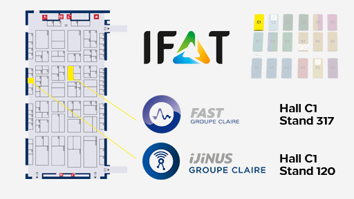 IFAT 2020 Hall C1 - Ijinus Groupe Claire