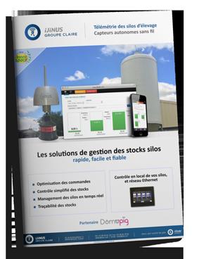 Catalogue elevage pour surveiller le remplissage des silos