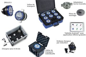 Accessoires de l'enregistreur de pression eau potable Drulo-III
