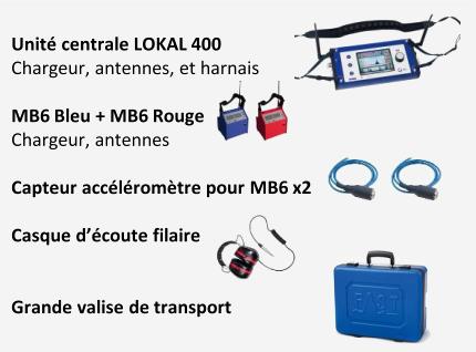 Pack 2 unité centrale Lokal 400 avec capteurs et accessoire
