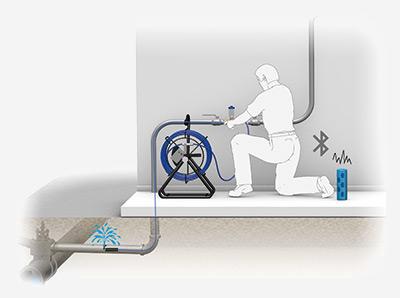 Installation de l'aiguille de traçage sur réseau d'eau potable