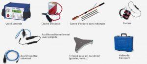 Accessoires du géophone accoustique Aquaz M100