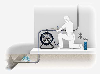 Installation aiguille de traçage sur réseau eau potable
