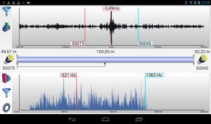App Android AZA-OAD Paramétrage de corrélation