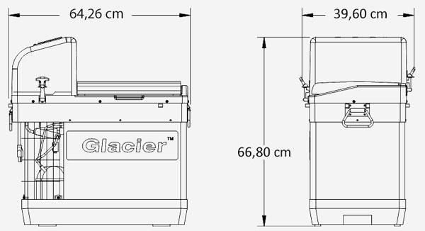 Plan du préleveur réfrigéré ISCO Glacier - Ijinus