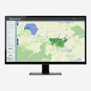 Icone logiciel web de supervision Watercloud